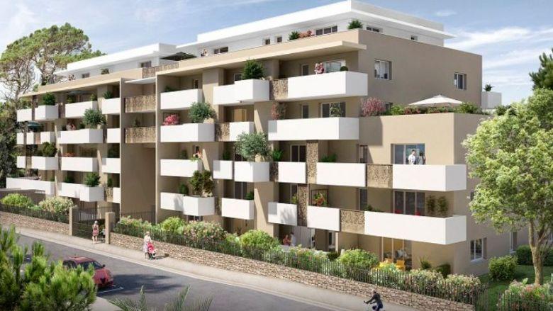 La maquette de la résidence qui doit être construite, d'ici 2022, rue de Jausserand à Montpellier. / © Marignan