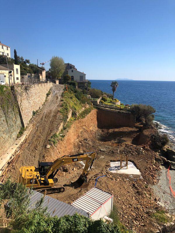 Le chantier qui fait polémique, au coeur du village de Pietranera.