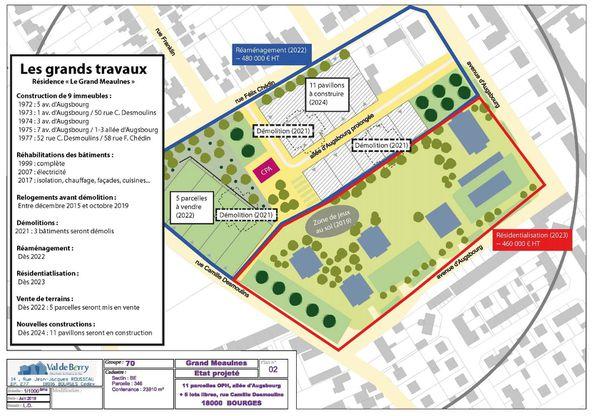 Les grands travaux prévus sur le site des trois immeubles démolis ce 30 mai à Bourges
